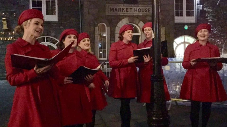 Jolly Hollies singing at Mullingar Christmas Market